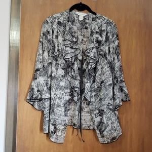 Sheer open blouse